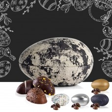 Metal egg with 140 g. marzipan eggs