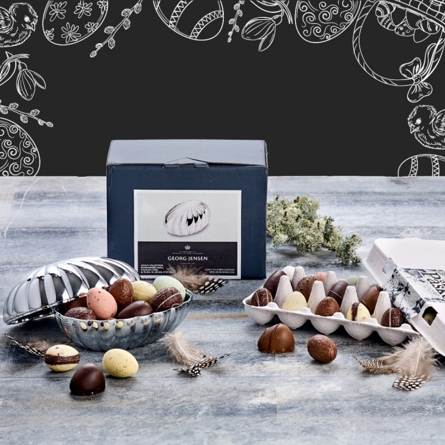 Georg Jensen bonbonniere with Easter chocolate