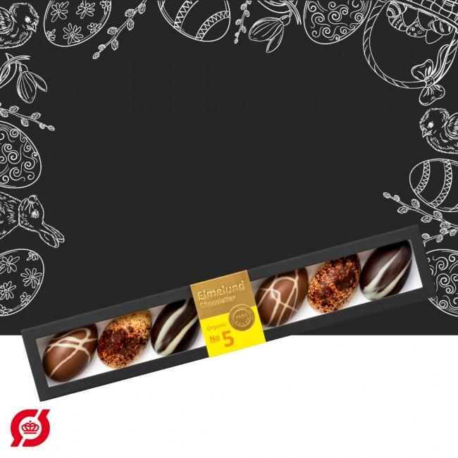 Elmelund Chocolatier giftbox with 6 eggs