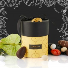 Cocoture yellow Palæ box with 200g mixed chocolate eggs