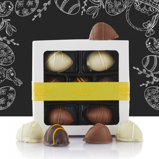 Cocoture white giftbox with 182g. marzipan eggs